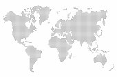 World map dot. Abstract world map background. Vector