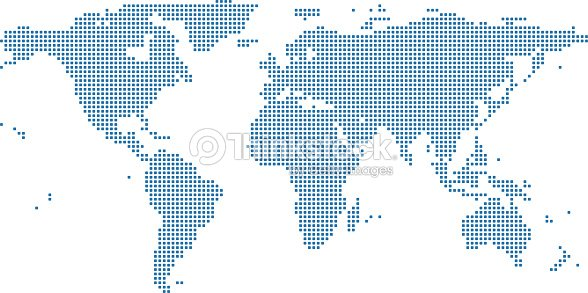 World map dots vector outline illustration background dotted world world map dots vector outline illustration background dotted world map highly detailed pixelated world gumiabroncs
