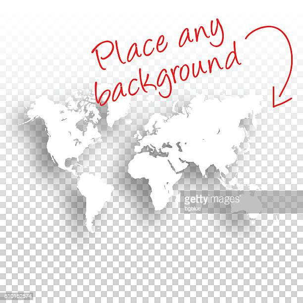 World Map for design - Blank Background
