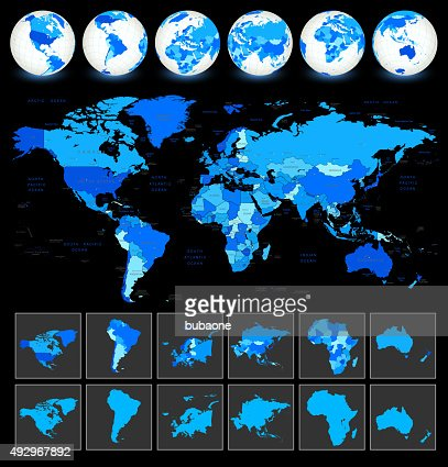World Map Geography Vector Art Getty Images - World map geography