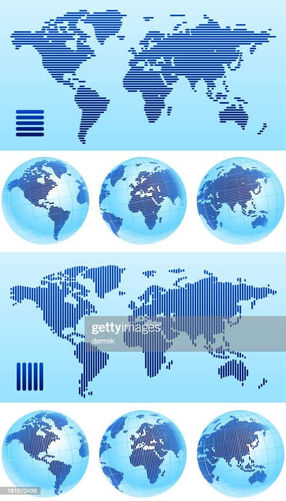 World map globe from lines vector art getty images world map globe from lines vector art gumiabroncs Choice Image