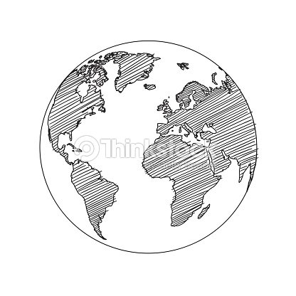 World map globe sketch vector vector art thinkstock world map globe sketch vector vector art gumiabroncs Image collections