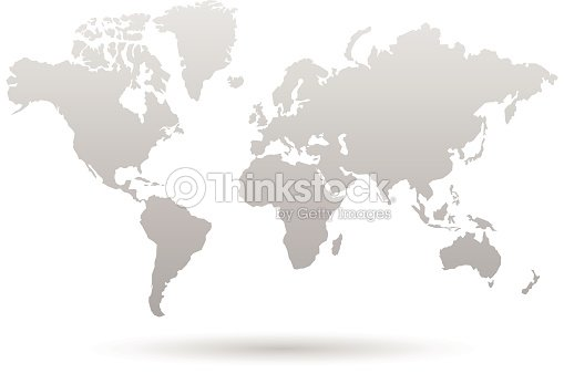 World map graphic in shades of gray vector art thinkstock world map graphic in shades of gray vector art gumiabroncs Images