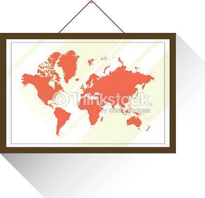 World map in hanging frame vector with white background vector art world map in hanging frame vector with white background vector art gumiabroncs Images