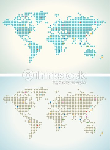 World map in squares and round dot vector art thinkstock world map in squares and round dot vector art gumiabroncs Image collections