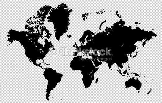 World map isolated on a transparent background highly detailed world map isolated on a transparent background highly detailed vector illustration vector art gumiabroncs Images