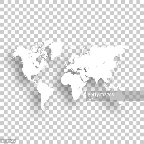 Carte du monde isolé sur fond blanc