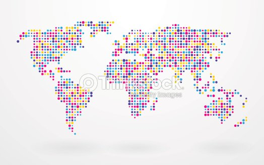 World map made up of small colorful dots vector art thinkstock world map made up of small colorful dots vector art gumiabroncs Images