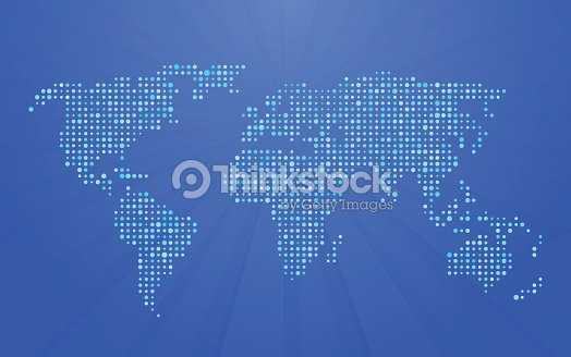 World map made up of small polka dots vector art thinkstock world map made up of small polka dots vector art gumiabroncs Choice Image