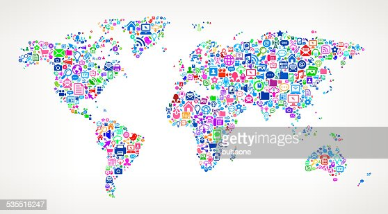 World map modern technology royalty free vector art pattern vector world map modern technology royalty free vector art pattern vector art getty images sciox Images