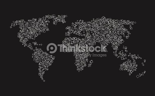 World map of white squares on black background vector art thinkstock world map of white squares on black background vector art gumiabroncs Image collections