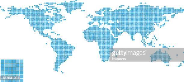 Carte du monde-Motif