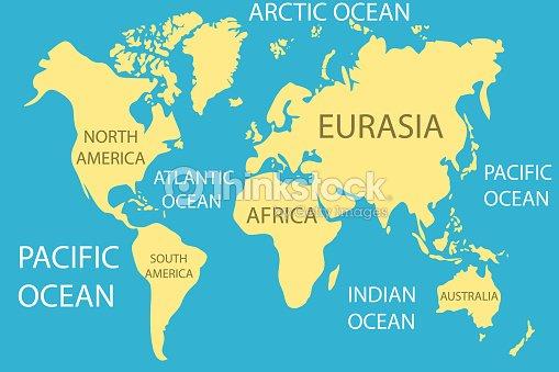 Carte Du Monde Realiste.Carte Du Monde Carte Du Monde Realiste Avec Les Continents Et Les