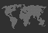 World map simple illustration. Vector illustration