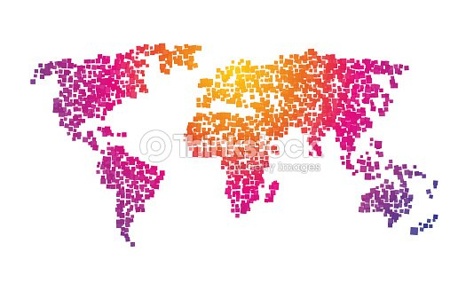 World map squares color gradient vector art thinkstock world map squares color gradient vector art gumiabroncs Image collections