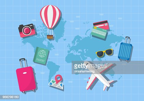 World map travel concept : stock vector