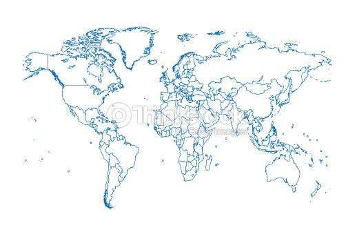 World map vector flat design vector art thinkstock world map vector flat design vector art gumiabroncs Images