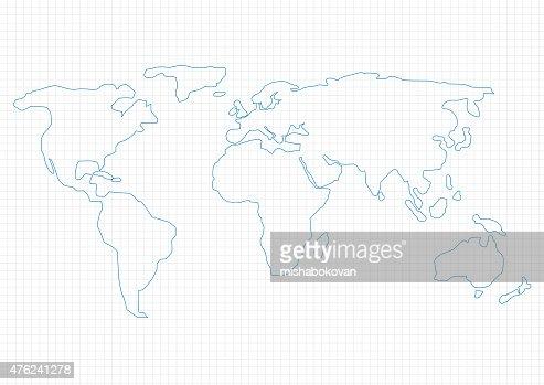 Mapa do Mundo : arte vetorial