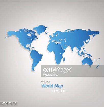 World Weltkarte : Vektorgrafik