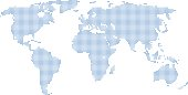 World map abstract vector illustration. World map blue dots, modern design on white background.