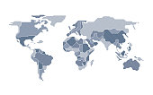 designed world map countries