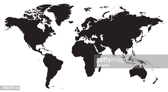 World map vector illustration isolated on white background : stock vector