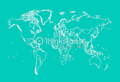 World map with borders neon color outline vector art thinkstock world map with borders neon color outline vector art gumiabroncs Gallery
