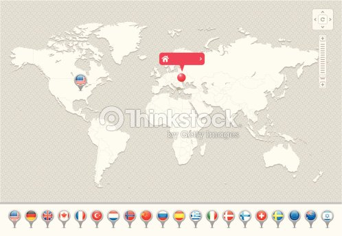 World map with national flags vector art thinkstock world map with national flags vector art gumiabroncs Image collections