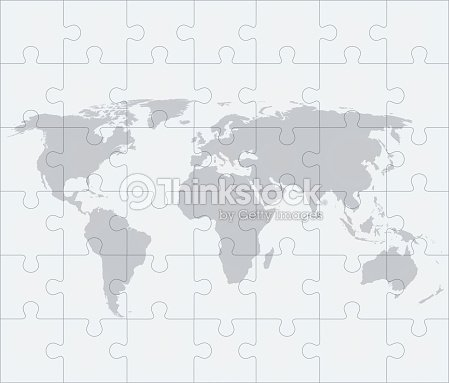 World map with of puzzles vector art thinkstock world map with of puzzles vector art gumiabroncs Choice Image