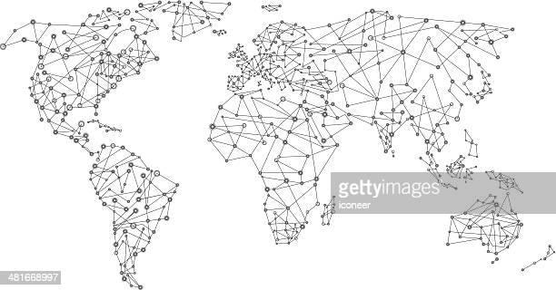 Mondo mappa di rete