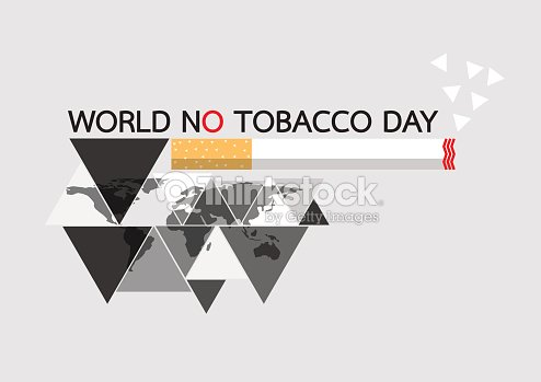 World no tobacco daywith world map in triangle shape vector art world no tobacco daywith world map in triangle shape vector art gumiabroncs Image collections