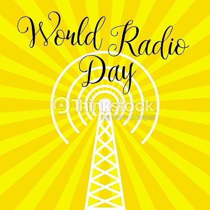 World Radio Day Radio Tower Vector Art | Thinkstock