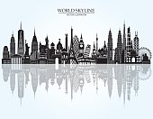 World skyline detailed illustration. Vector illustration
