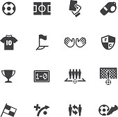 World Soccer Silhouette icons 1 EPS 10