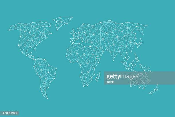 World wide internet network nodes and covering — vector