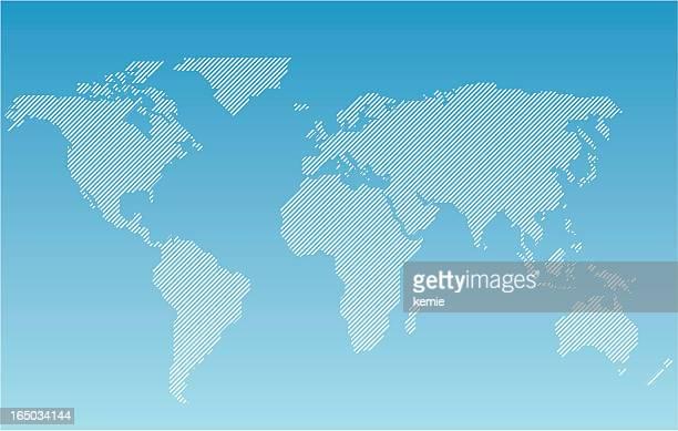 worldmap- striped
