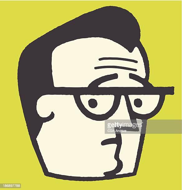 Worried Man in Eyeglasses