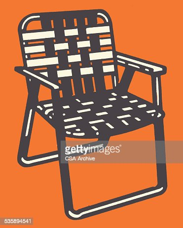 Woven Lawn Chair : Vector Art