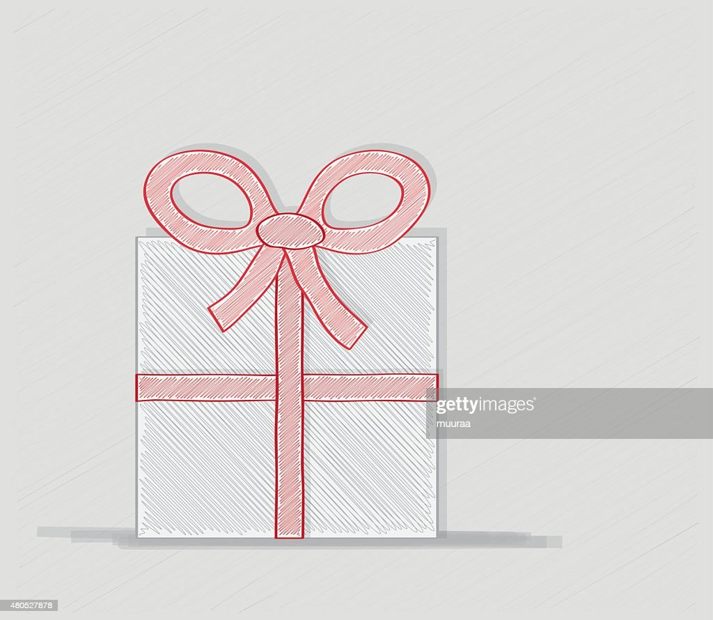 wrapped gift or gift card : Vector Art