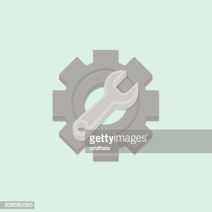 Wrench and Gear Vector Illustration : Vector Art