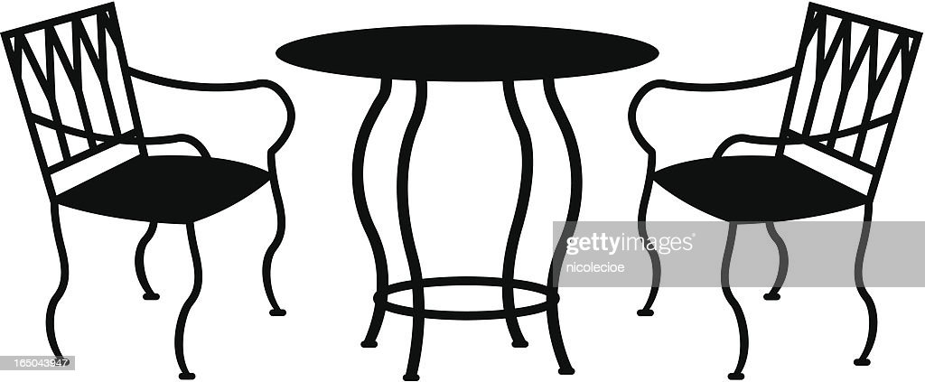 Wrought Iron Patio Furniture Vector Art Getty Images