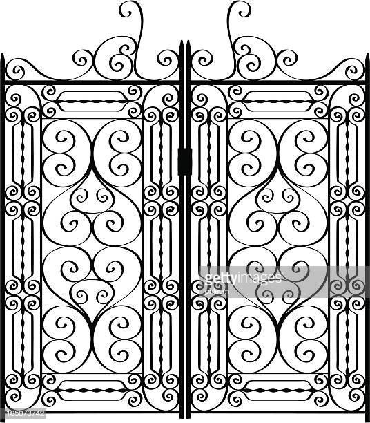 Illustrations et dessins anim s de portail fer forg for Dessin portail fer forge
