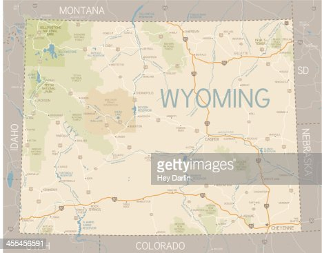 Wyoming State Map Vector Art | Getty Images