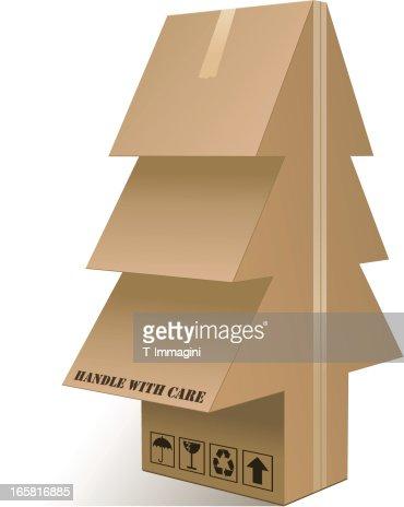 xmas tree box vector art getty images - Christmas Tree Box