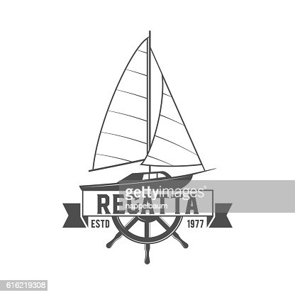 Yacht club badge, logo, label : ベクトルアート