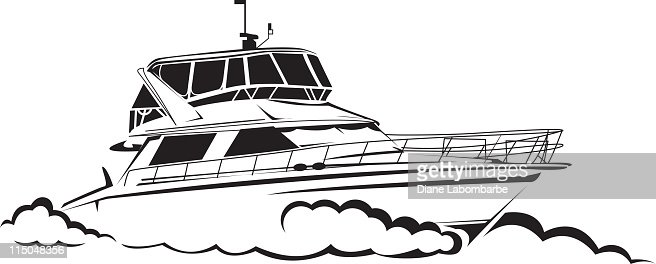 Line Drawing Yacht : Yacht line drawing vector art getty images