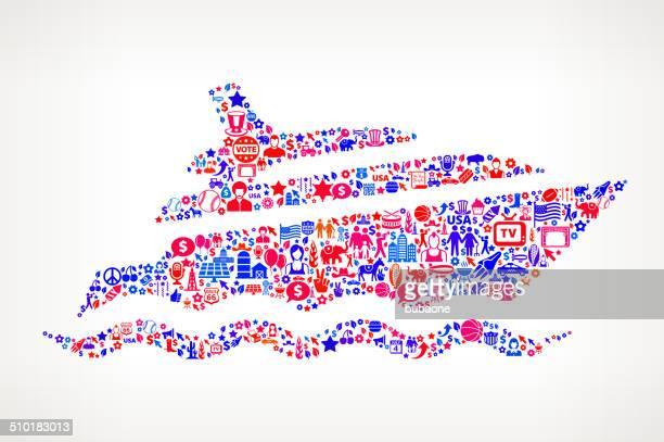 Yacht uns lizenzfreie Vektorgrafik Muster
