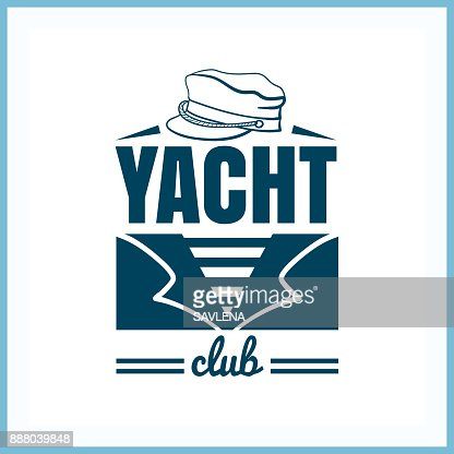 Yacht_Club_Badge_With_Hat : Vector Art