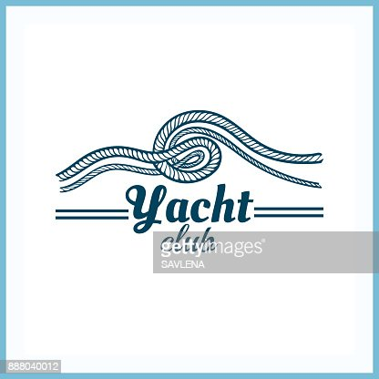 Yacht_Club_Badge_With_Rope : Vector Art