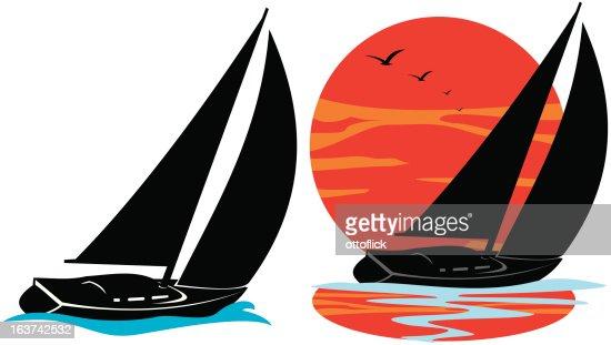 трафареты лодка